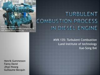 Turbulent combustion  process  in diesel  engine