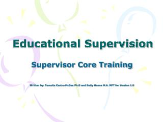 Educational Supervision