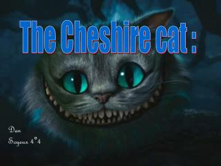 The Cheshire cat :