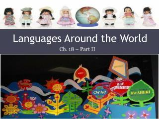 Languages Around the World