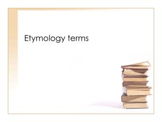 Etymology terms