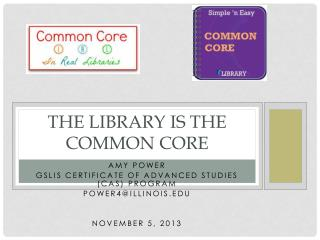 The library IS the Common Core