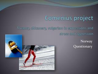 Comenius project Truancy ,  chicanery ,  vulgarism  in  expressions  and stress and  aggression