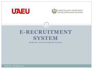 E-recruitment System Hiring manager options