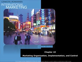 Chapter  10 Marketing Organization, Implementation, and Control