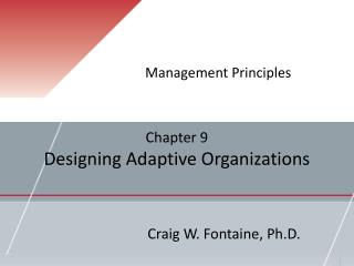 Chapter 9 Designing Adaptive Organizations