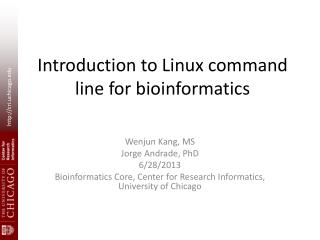 Introduction to Linux command line for  b ioinformatics
