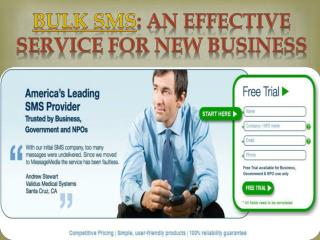 Bulk SMS: An Effective Service for New Business