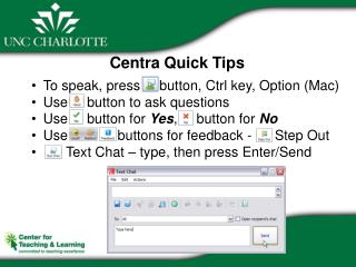 Centra Quick Tips