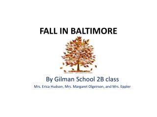 FALL IN BALTIMORE