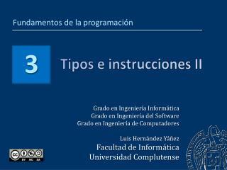 Tipos e instrucciones II