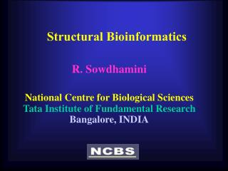 Structural Bioinformatics