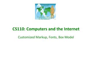 CS110: Computers and the Internet