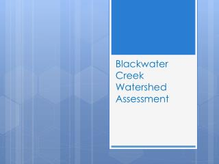 Blackwater  Creek Watershed Assessment