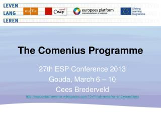 The Comenius  Programme