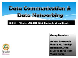 Data Communication &  Data Networking