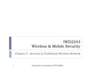IWD2243 Wireless & Mobile Security