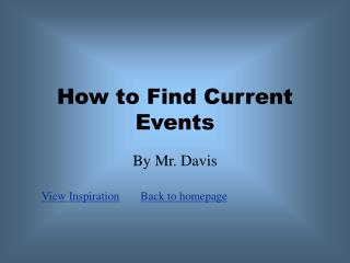 How to Find Current Events