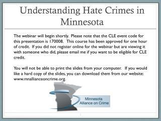 Understanding Hate Crimes in Minnesota