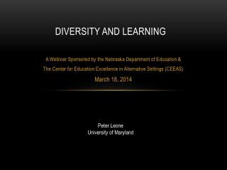 Diversity and Learning