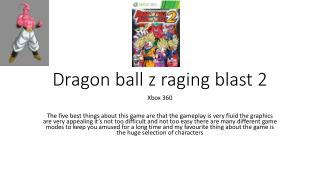 Dragon ball z raging blast 2