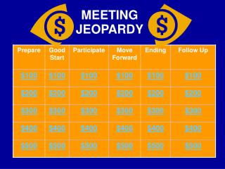 MEETING JEOPARDY