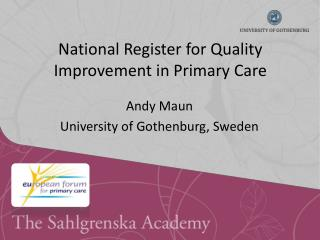 National Register for Quality Improvement in Primary Care