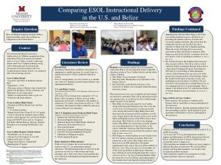 Comparing ESOL Instructional Delivery  in the U.S. and Belize