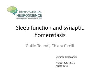 Sleep function and synaptic homeostasis