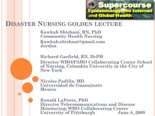 Disaster Nursing golden lecture