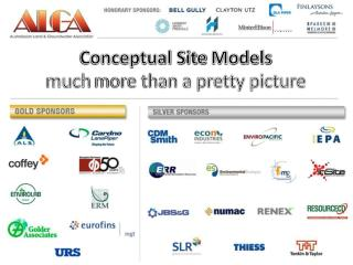 Conceptual Site  Models much  more than a pretty picture