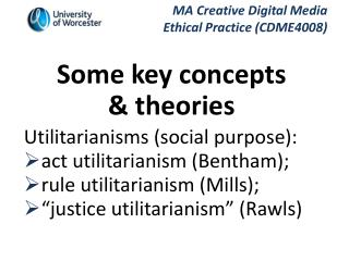 what are the key concepts of utilitarianism essay Key points the greatest happiness principle utilitarianism started out from the basic assumption by bentham that man desires pleasure and seeks.