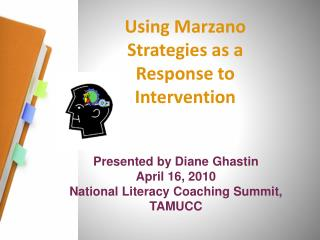 Using  Marzano  Strategies as a Response to Intervention