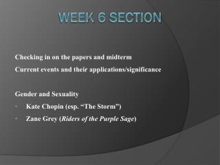 Week 6 Section