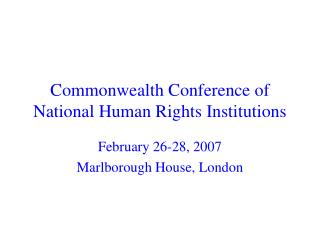 Commonwealth Conference of National Human Rights Institutions