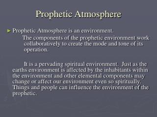 Prophetic Atmosphere