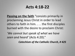 Acts 4:18-22
