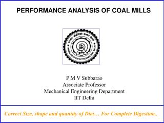 PERFORMANCE ANALYSIS OF COAL MILLS