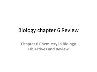 Biology chapter 6 Review