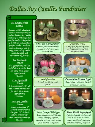 Dallas Soy Candles Fundraiser
