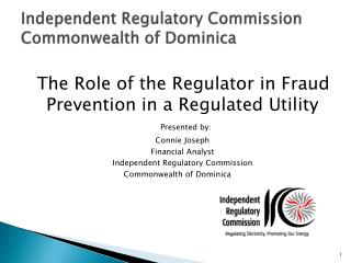 Independent Regulatory Commission Commonwealth of Dominica