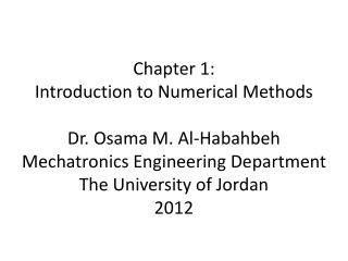 Numerical Integration of Partial Differential Equations PDEs