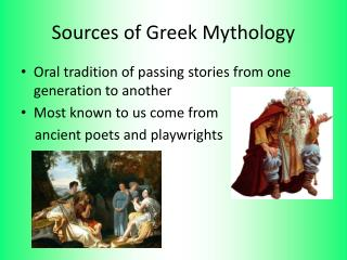 Sources of Greek Mythology