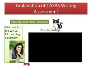 Explanation of CASAS Writing Assessment