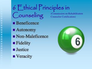 6 Ethical Principles in Counseling