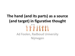 The hand (and its parts) as a source (and target) in figurative thought and language