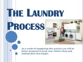 The Laundry Process