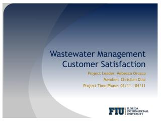 Wastewater  Management  Customer  Satisfaction