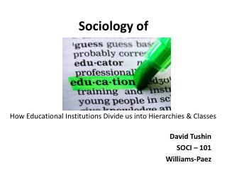 Sociology of