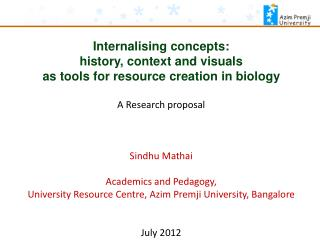 Internalising concepts: history, context and visuals as tools for resource creation in biology